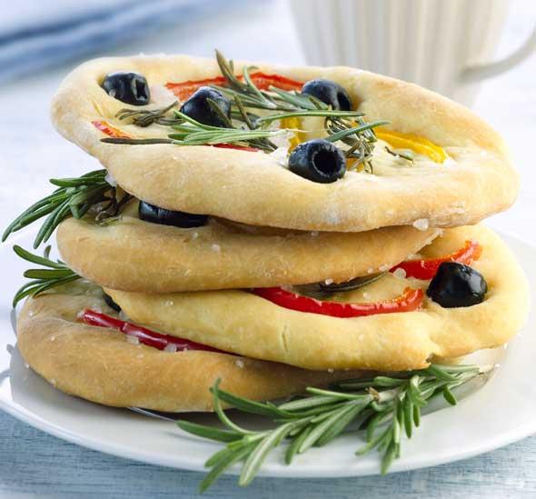 focaccia-leipäset