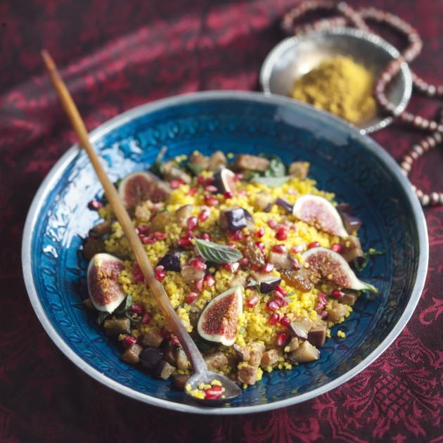 sahramilla maustettu bulgursalaatti