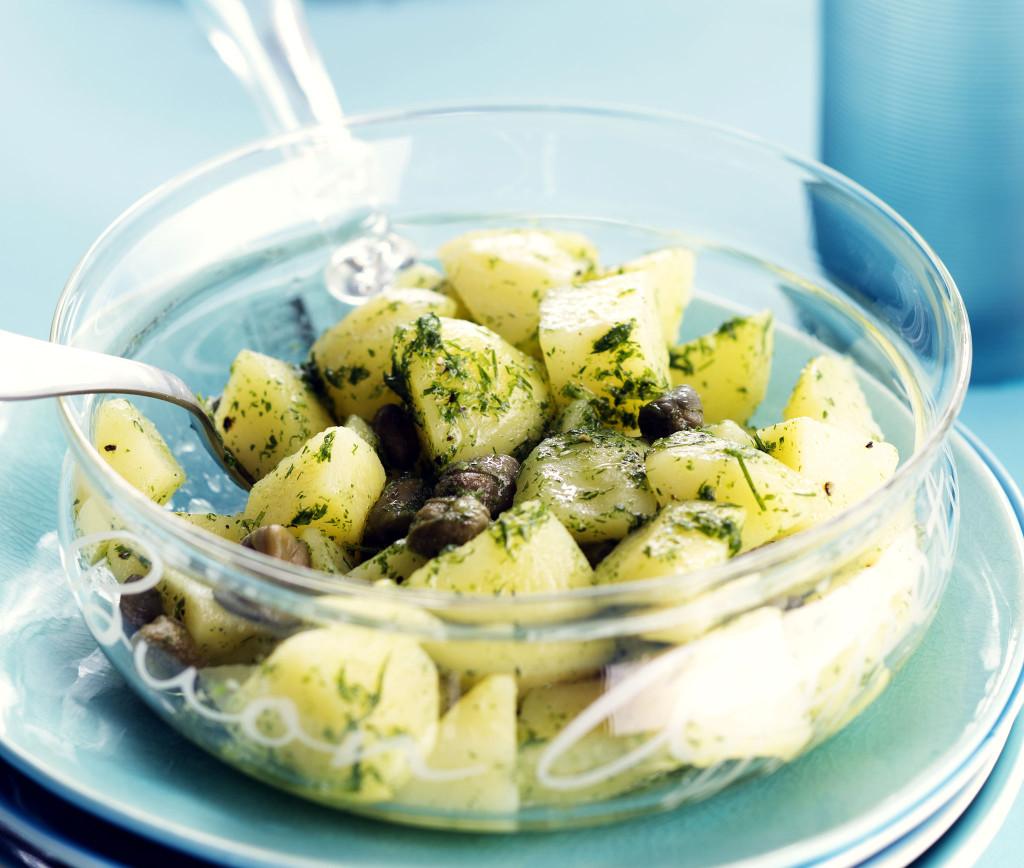 korianterinen perunasalaatti