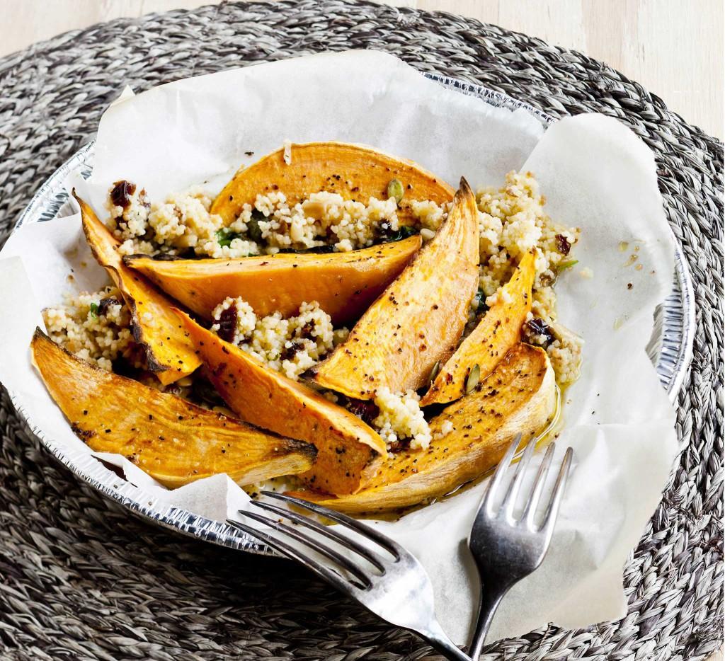 couscous ja bataattilohkot