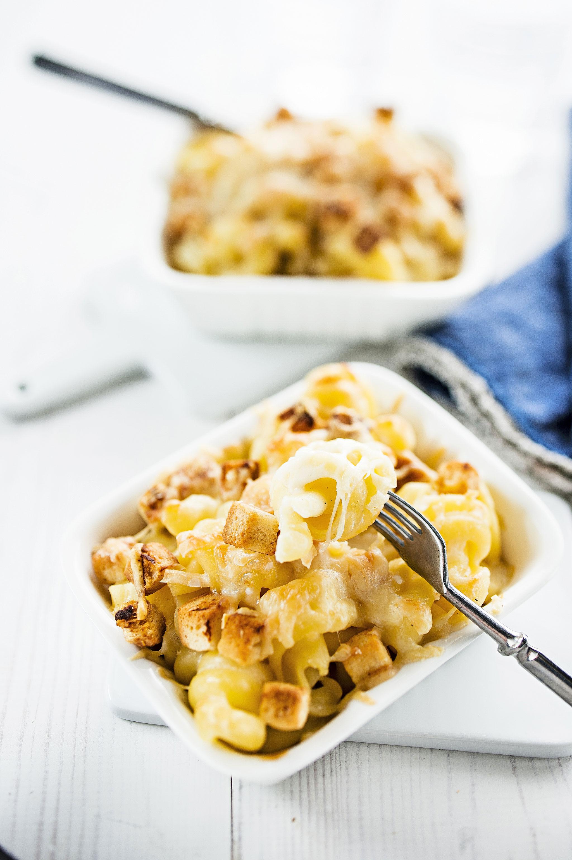 makaronia ja juustoa