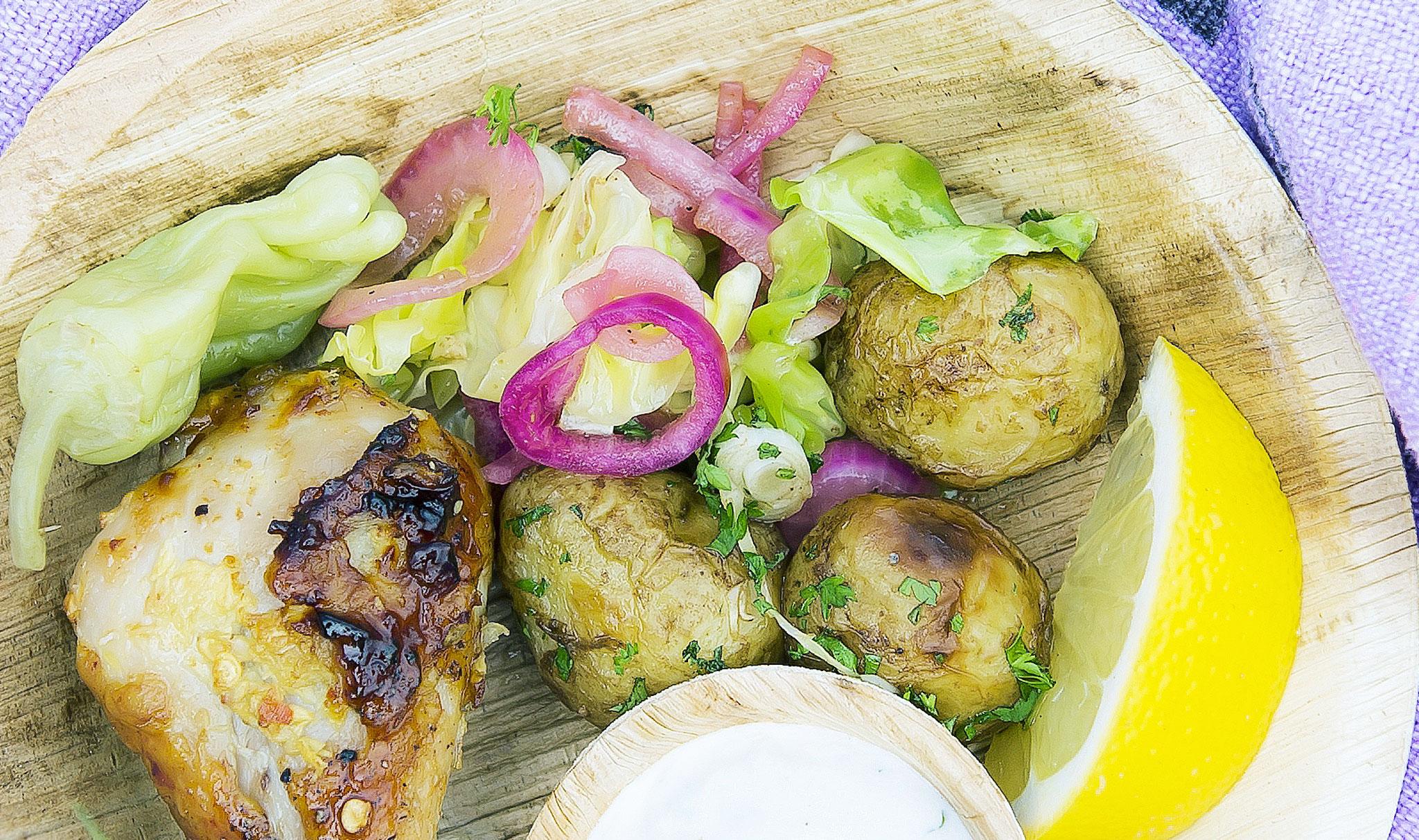 paahdettu kaali-perunasalaatti