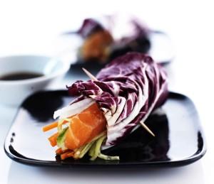sushi-salaattikäärö, salaattirulla