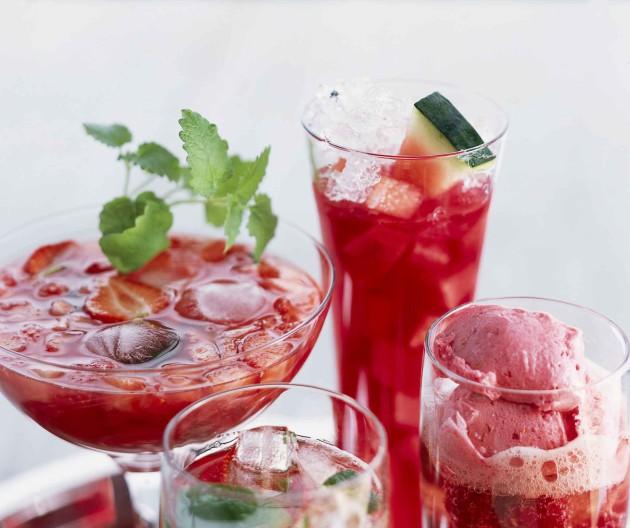 Melonidrinkki ja muita juomia