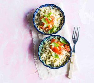 Risotto kukkakaalista ja kvinoasta