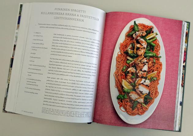 punainen spagetti -resepti Jamie Oliverin kirjasta Arjen superruokaa perheille