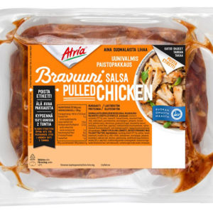 Atria bravuuri pulled salsa chicken