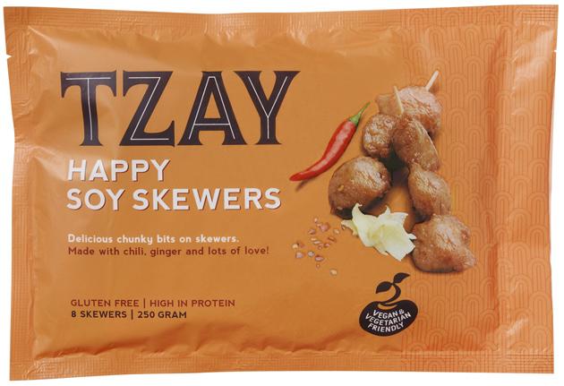 Tzay Happy soy skewers