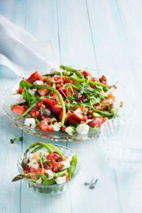 parsa-mansikka-vuohenjuustosalaatti