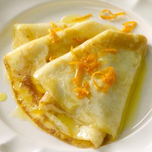 crepes suzette eli appelsiiniletut
