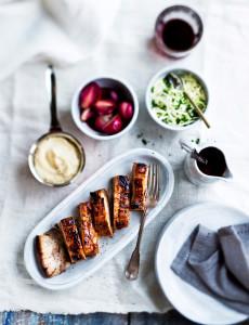 porsaankylkeä uunissa ja juuriselleripyreetä